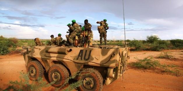Des soldats de l'UA dans la région de Gedo, le 14 mars 2014 en Somalie