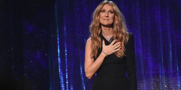 Celine Dion bei einem Konzert 2015