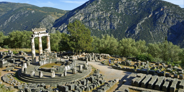 Ancient temple in Delphi