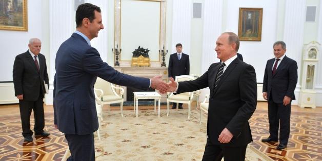 Bild eines früheren Treffen von Putin und Assad.