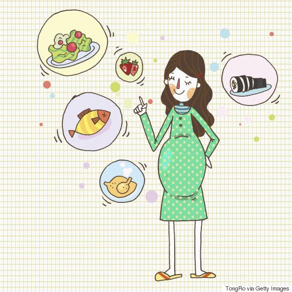 pregnancy food illustration