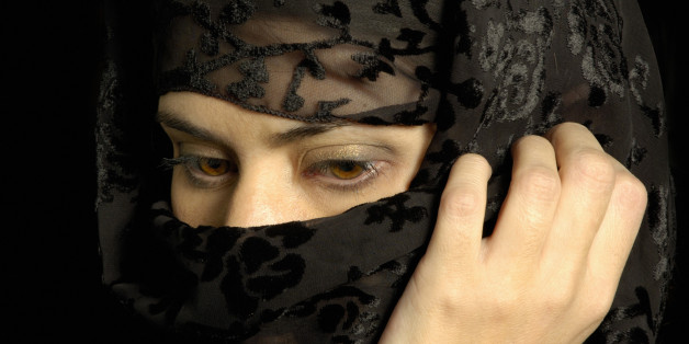 Close-up of a woman wearing a hijab
