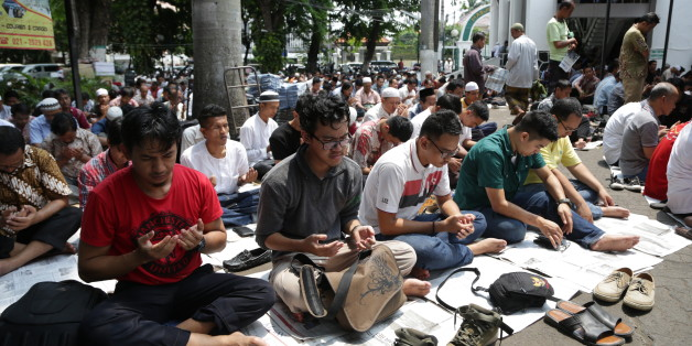 Muslims perform Friday prayers at a mosque in Jakarta, Indonesia, Friday, Jan. 15, 2016. (AP Photo/Achmad Ibrahim)