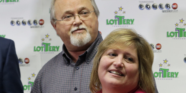 John and Lisa Robinson attend a news conference Friday, Jan. 15, 2016, in Nashville, Tenn. The Robinsons' winning Powerball ticket is one of three winning tickets in the $1.6 billion jackpot drawing held Wednesday. (AP Photo/Mark Humphrey)