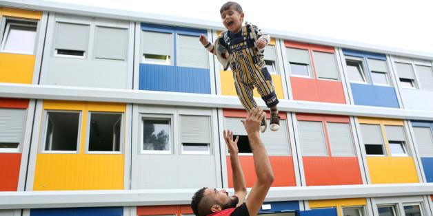 Flüchtlinge in einer Unterkunft in Berlin