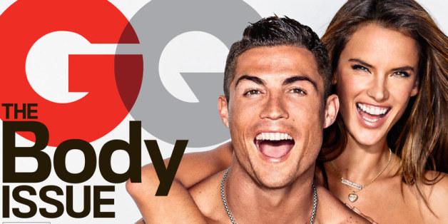 Cristiano Ronaldo und Alessandra Ambrosio auf dem GQ-Cover