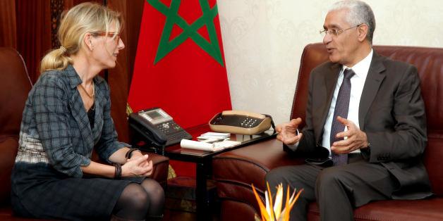M. Rachid Talbi El Alami, président de la Chambre des représentants, avec madame l'ambassadeur de la Suède à Rabat. Erika Ferrer, jeudi 14 janvier 2015