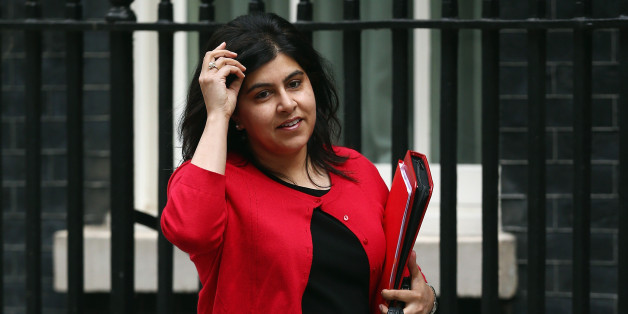 LONDON, ENGLAND - JUNE 09:  Britain's Minister of State at the Foreign Office, Baroness Warsi arrives at 10 Downing Street on June 9, 2014 in London, England. The Education Secretary Michael Gove and and Home Secretary Theresa May were both called to attend a meeting at 10 Downing Street in London today with British Prime Minister David Cameron. The meeting was to discuss the alleged 'extremist takeovers' of schools in Birmingham, and was held on the same day that Ofsted released a report in to