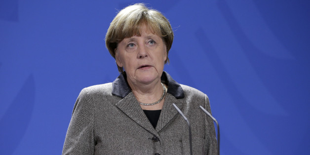 German Chancellor Angela Merkel addresses the media during a statement at the chancellery in Berlin, Germany, Tuesday, Jan. 12, 2016. An explosion killed several Germans and wounded 15 others Tuesday morning in the historic district of Istanbul. Turkish President Recep Tayyip Erdogan said a Syria-linked suicide bomber is believed to be behind the attack. (AP Photo/Michael Sohn)