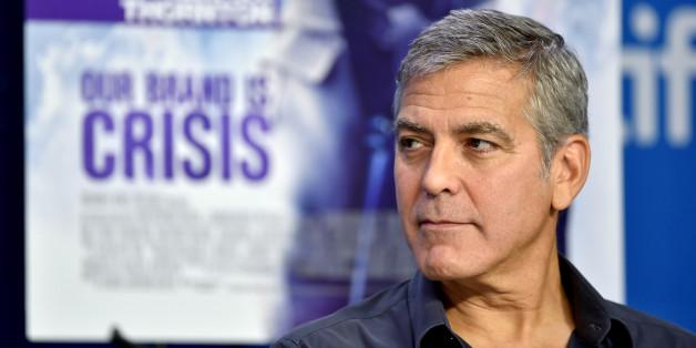 George Clooney spricht über Politik.