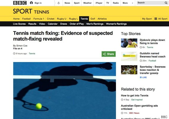 tennis match fixing