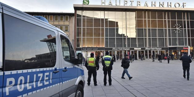 Police patrol in front of the main train station in Cologne, Germany, Monday, Jan. 18, 2016. A first suspect of the New Year's Eve sexual assaults and robberies in Cologne was arrested over the weekend. Authorities in Germany have arrested a 26-year-old Algerian man on suspicion of committing a sexual assault in Cologne during New Year's celebrations. (AP Photo/Martin Meissner)