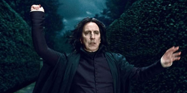 "Alan Rickman als Professor Snape in dem Bestseller ""Harry Potter"""