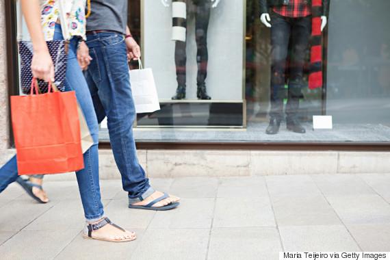 men women shopping