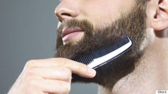 combing a beard