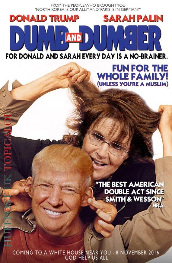 sarah palin donald trump dumb and dumber movie