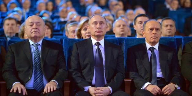 Putin (M.) bei einem FSB-Treffen im Dezember 2015 in Moskau