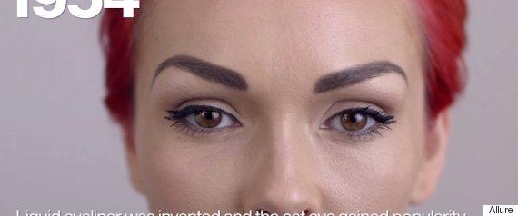 100 years of eye makeup