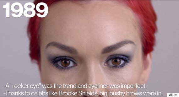 100 years of eye makeup