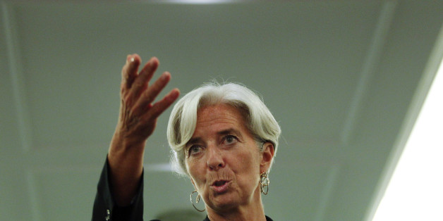 France's Financial Minister Christine Lagarde gestures during a news conference during the African Development Bank annual meeting in Lisbon, Portugal,  Friday, June 10, 2011.  Lagrade is a candidate to head the International Monetary Fund, and prior to Portugal, she visited Brazil, India and China as part of a global tour. (AP Photo/ Francisco Seco)