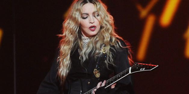 Madonna auf der Bühne in Prag