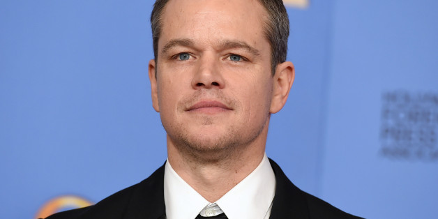 "Matt Damon poses in the press room with the award for best performance by an actor in a motion picture - musical or comedy for ""The Martian"" at the 73rd annual Golden Globe Awards on Sunday, Jan. 10, 2016, at the Beverly Hilton Hotel in Beverly Hills, Calif. (Photo by Jordan Strauss/Invision/AP)"