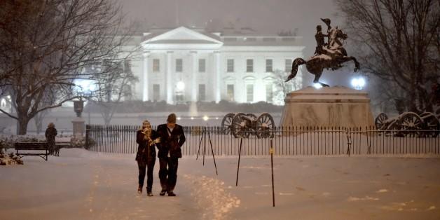 """""""Snowzilla"""", la tempête de neige qui inquiète Washington et l'est des Etats-Unis."""