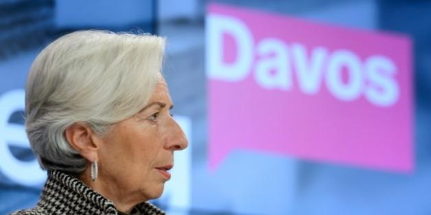 Christine Lagarde le 21 janvier 2016 à Davos
