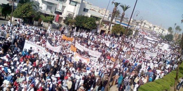 Des milliers d'enseignants stagiaires manifestent à Rabat (PHOTOS)