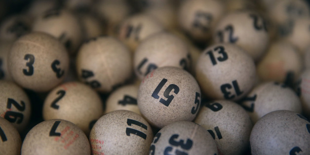 SAN LORENZO, CA - JANUARY 13:  Lottery balls are seen in a box at Kavanagh Liquors on January 13, 2016 in San Lorenzo, California. Dozens of people lined up outside of Kavanagh Liquors, a store that has had several multi-million dollar winners, to -purchase Powerball tickets in hopes of winning the estimated record-breaking $1.5 billion dollar jackpot.  (Photo by Justin Sullivan/Getty Images)