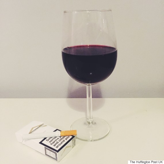 red wine cigarette