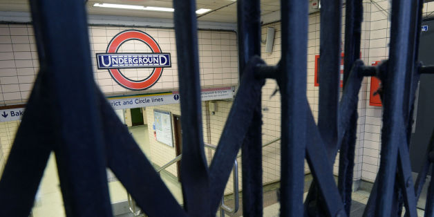 File photo dated 05/08/15 of an Underground sign seen through closed gates at Paddington Underground station, London, as Train drivers on London Underground look set to take three days of strike action over a long-running dispute about pay and plans for an all night Tube service.