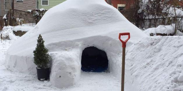 "Après ""Snowzilla"", un igloo proposé sur Airbnb à Brooklyn"