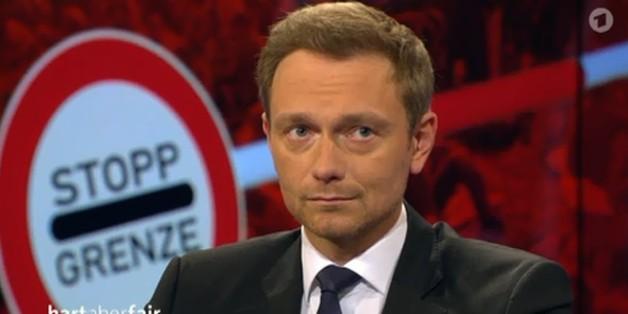 "FDP-Chef Christian Lindner bei ""Hart aber fair"""