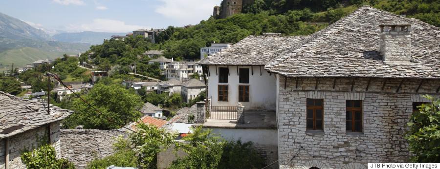 greek village mountain