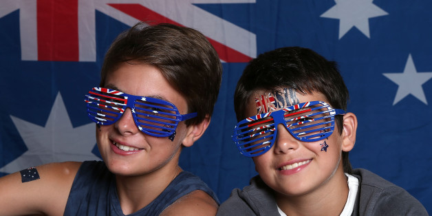 AVALON, AUSTRALIA - JANUARY 26:  Young Australians celebrate Australia Day on January 26, 2016 in Avoca Beach, Australia.  Australia Day, formerly known as Foundation Day, is the official national day of Australia and is celebrated annually on January 26 to commemorate the arrival of the First Fleet to Sydney in 1788.  (Photo by Tony Feder/Getty Images)