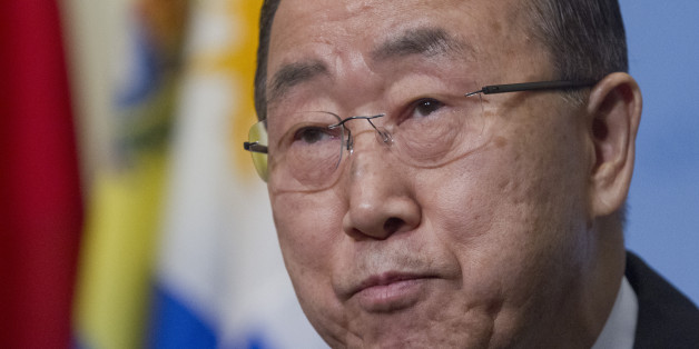 United Nations Secretary-General Ban Ki-moon speaks during a media briefing before attending a Security Council meeting, Wednesday, Jan. 6, 2016, at U.N. headquarters. (AP Photo/Bebeto Matthews)