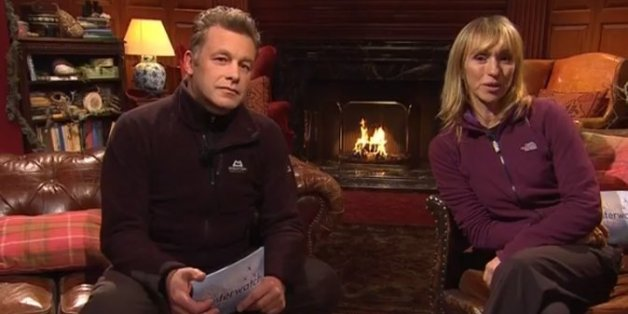 Chris Packham and Michaela Strachan on 'Winterwatch'