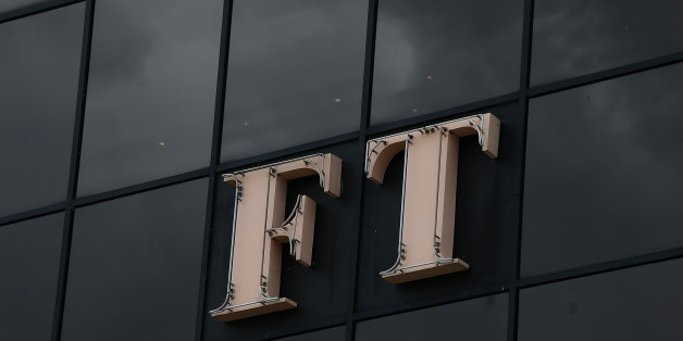 LONDON, ENGLAND - JULY 23:  The Financial Times logo sits on display outside the headquarters of the newspaper on July 23, 2015 in London, England. Japanese media company Nikkei have reached an agreement to buy the Financial Times Group from publishing group Pearson for £844m. The Financial Times is a British, English language newspaper launched in 1888 and has a combined print and online readership of 720,000.  It is part of the FT group which also includes a 50% stake in The Economist and Russian newspaper Vedemosti.  (Photo by Danny E. Martindale/Getty Images)