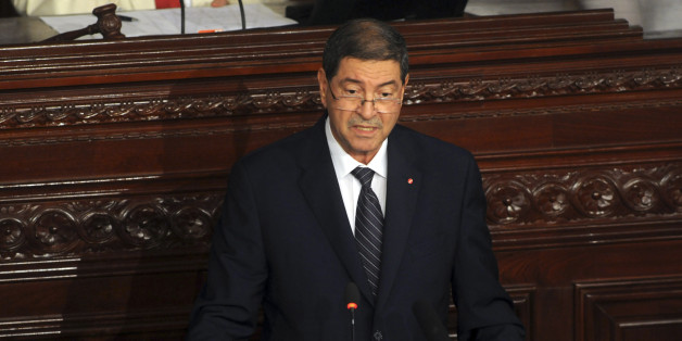 Le Premier ministre Habib Essid s'adresse au Parlement à Tunis, le 8 juillet 2015.