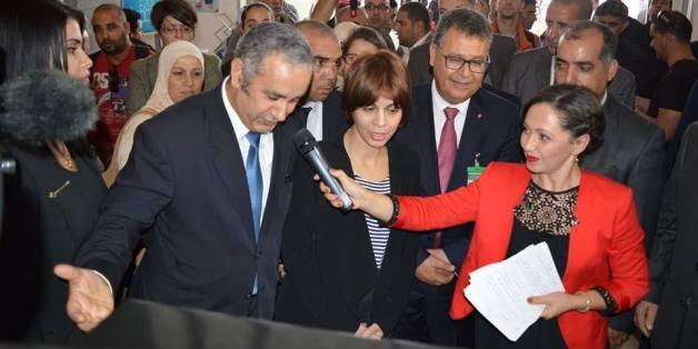 Azouaou Mehmel avec la ministre des PTIC Imane-Houda Feraoun