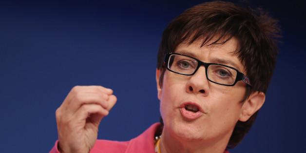 Die ssarländische Ministerpräsidentin Annegret Kramp-Karrenbauer