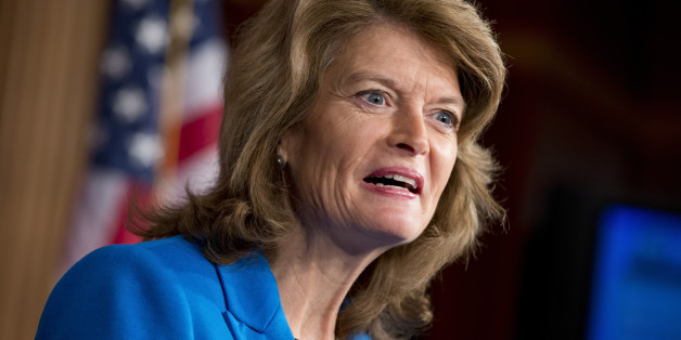 "Sen. Lisa Murkowski of Alaska, the top ranking Republican on the Senate Committee on Energy and Natural Resources, speaks to reporters about her blueprint for U.S. energy policy, titled ""Energy 20/20,"" at the Capitol in Washington, Monday, Feb. 4, 2013.  (AP Photo/J. Scott Applewhite)"