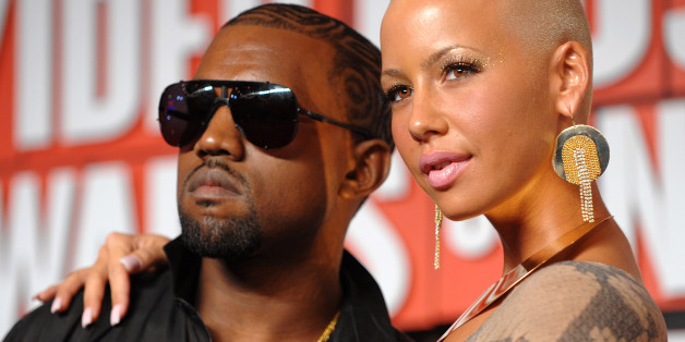Kanye West and Amber Rose arrive at the MTV Video Music Awards at Radio City Music Hall on September 13, 2009 in New York City. (AP Photo/Peter Kramer)