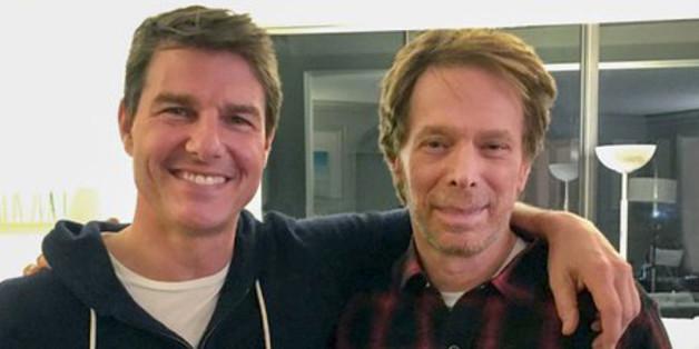 """""""Top Gun""""-Co-Produzent Jerry Bruckheimer und Tom Cruise haben sich auf ein Pläuschchen getroffen"""
