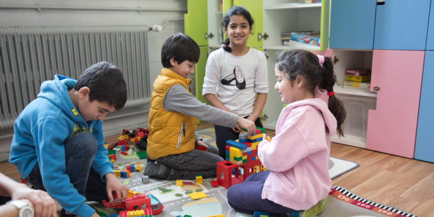 Kinder in einer deutschen Grundschule