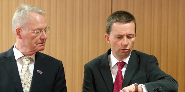 Bernd Lucke und Hans-Olaf Henkel