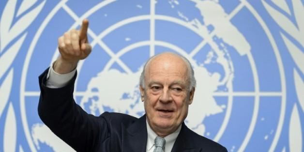 L'émissaire de l'ONU pour la Syrie, Staffan de Mistura, à Genève le 25 janvier 2016
