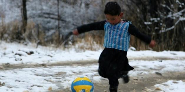 Murtaza Ahmadi, l'enfant afghan fan de Lionel Messi, le 29 janvier à Jaghori