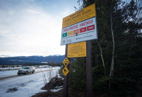 mcbride avalanche warning sign